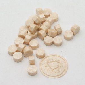 pastillas de cera lacre beige