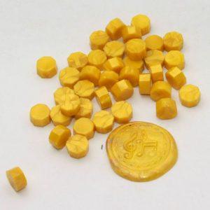 pastillas de cera lacre moutarde nacre