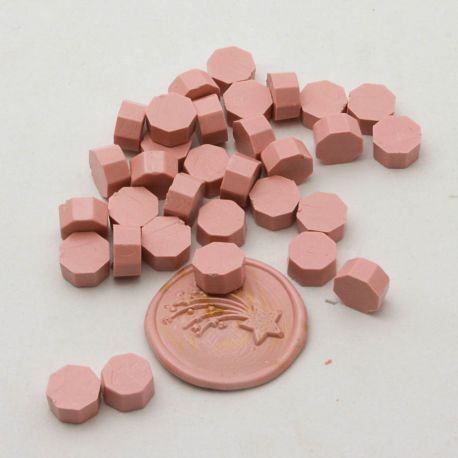 pastillas de cera lacre rose