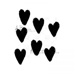 sello caucho ab studio mima molina corazones