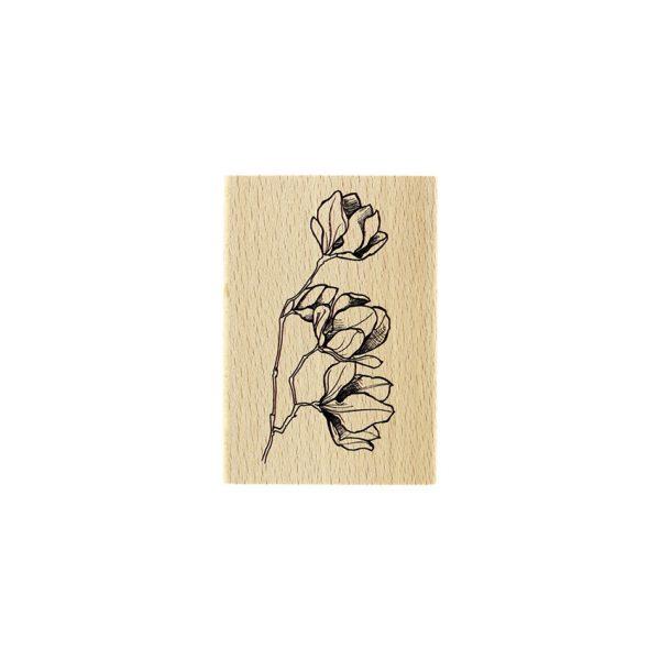 Sello de madera fleurs en boutons
