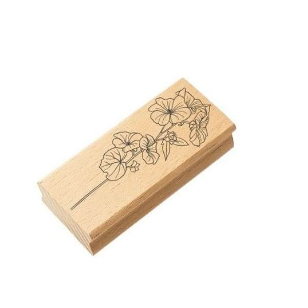 sello de madera ramo botanico