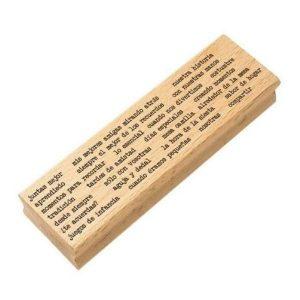 sello de madera texto juntas