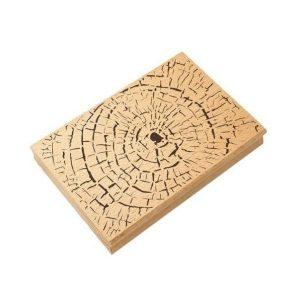 sello de madera textura tronco de madera