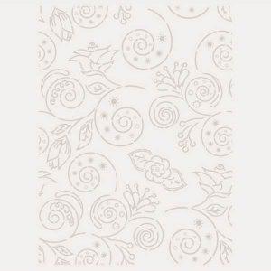 stencil floral contornos