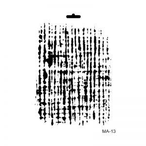 stencil mix media cadence arpillera