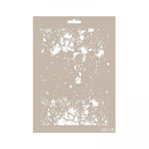 stencil mix media cadence fondo manchas