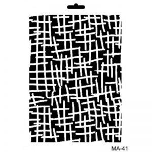 stencil mix media cadence textura