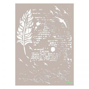 stencil mix mediacadence texto y pluma