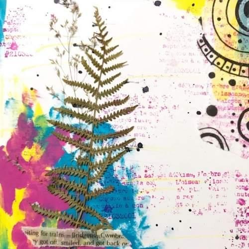 art journal con wax paper