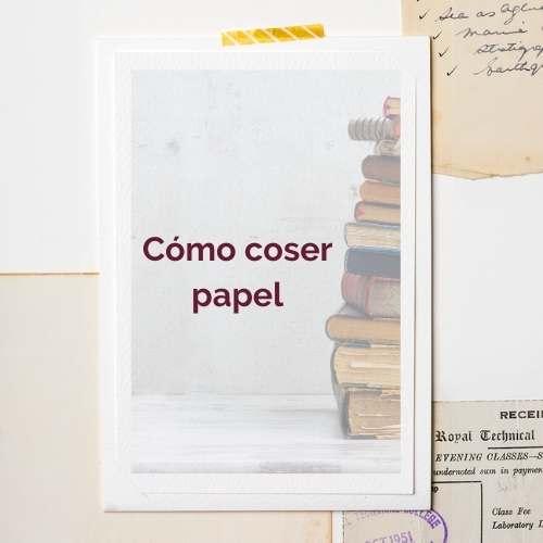 como coser papel