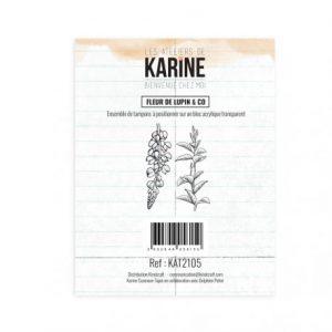sello acrilico bienvenue chez moi fleur de lupin co les ateliers de karine