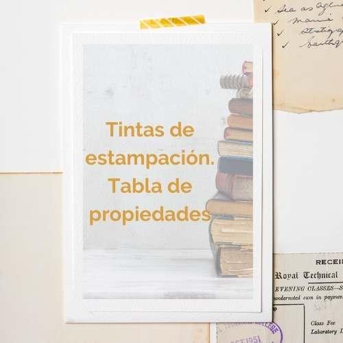 tintas de estampacion tabla de propiedades