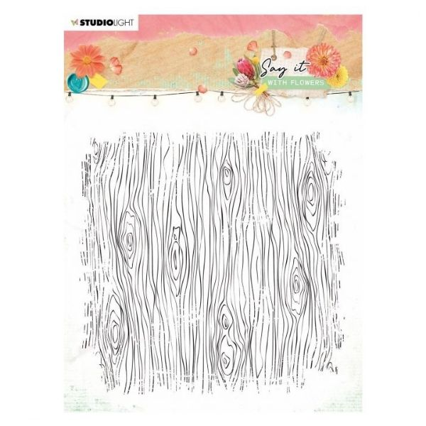 Sello acrilico 529 Say it with flowers Studio Light | Marakiscrap.com