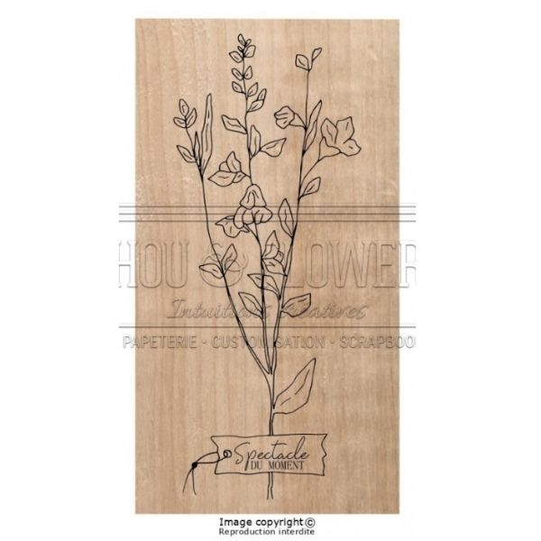 Sello de Madera Spectacle du moment Chou Flowers | Marakiscrap.com