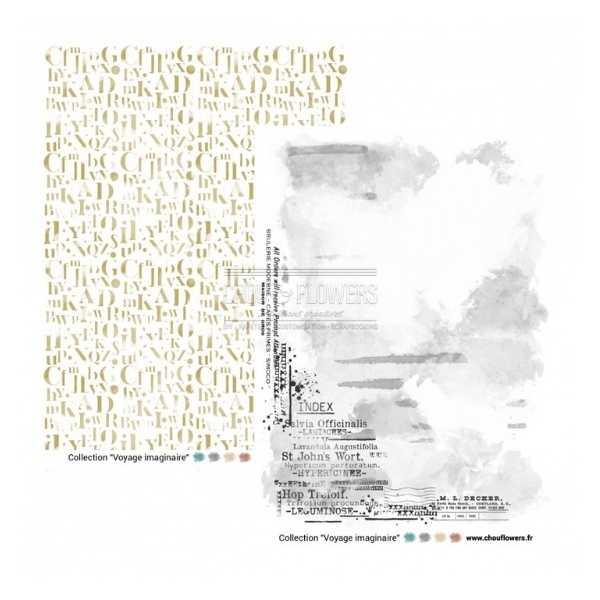 Coleccion de papeles A4 voyage imaginaire 3