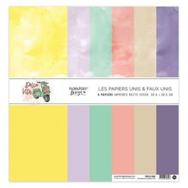 Kit Papeles 30x30 Dolce Vita Unis Florileges Design | Marakiscrap.com