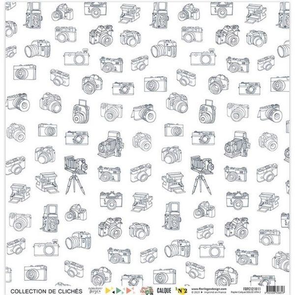 Kit Papeles de Calco 30x30 Dolce Vita Florileges Design2   Marakiscrap.com