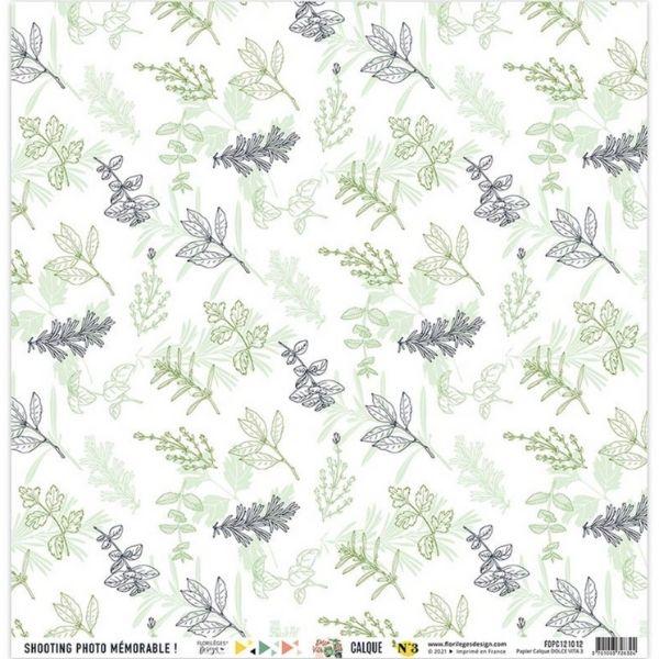 Kit Papeles de Calco 30x30 Dolce Vita Florileges Design3   Marakiscrap.com