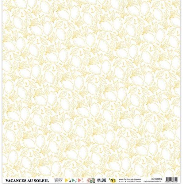 Kit Papeles de Calco 30x30 Dolce Vita Florileges Design4   Marakiscrap.com