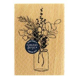 Sello Madera Bouquet DHiver Florileges Design | Marakiscrap.com