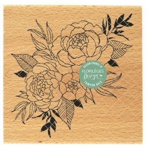 Sello Madera Bouquet Parfait Florileges Design | Marakiscrap.com