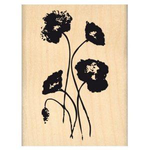 Sello Madera Gentils Coquelicots Florileges Design | Marakiscrap.com