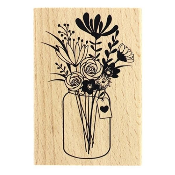 Sello Madera Grand Bouquet Florileges Design | Marakiscrap.com