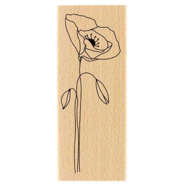 Sello Madera Long Coquelicot Florileges Design | Marakiscrap.com