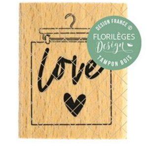 Sello Madera Suspension Love Florileges Design | Marakiscrap.com