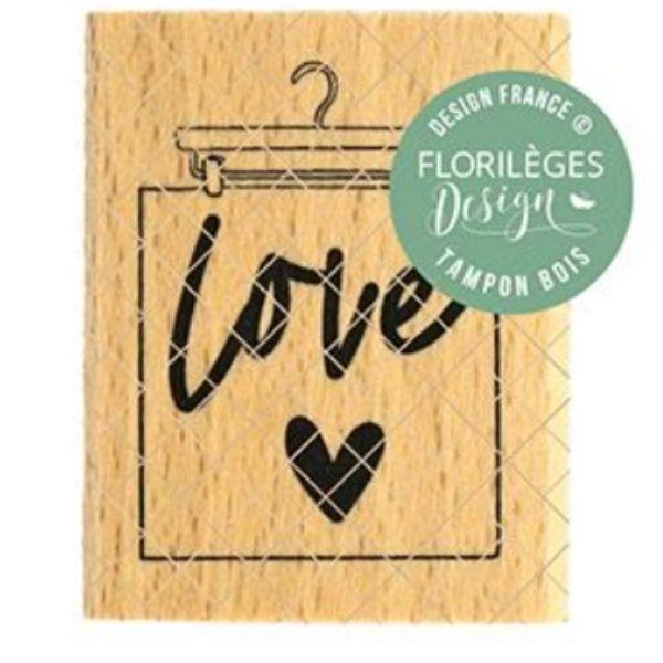 Sello Madera Suspension Love Florileges Design   Marakiscrap.com