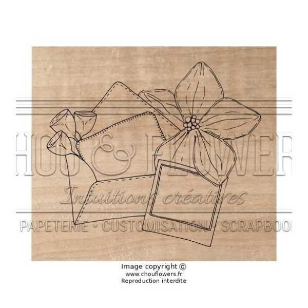 Sello de madera notes exotiques 1