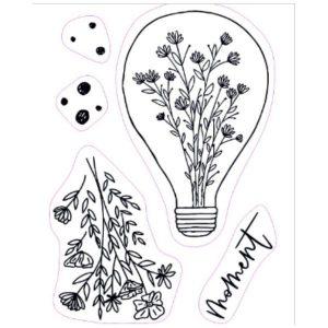 Sellos acrilicos Flowers Bulb S143 Studio Forty | Marakiscrap.com