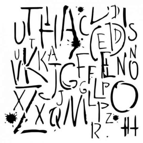 Stencil 6x6 Big Letters Aida Domisiewicz 13arts | Marakiscrap.com