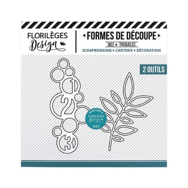 Troqueles Cercles et feuillage Florileges Design   Marakiscrap.com