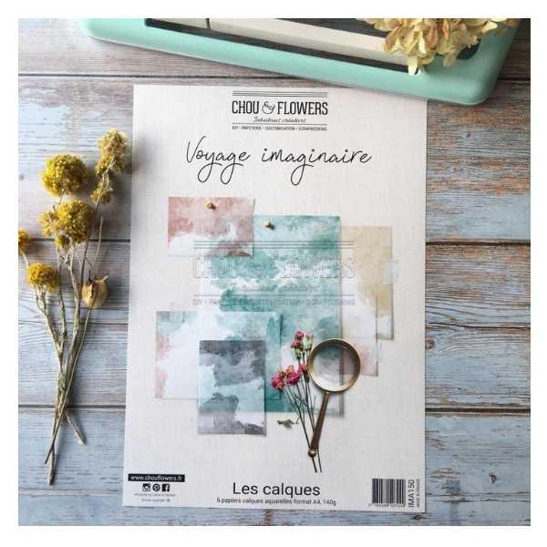 coleccion de papeles vellum aquarelle voyage imaginaire 1