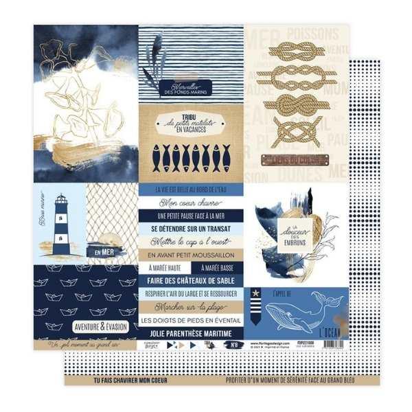 Kit papeles 30x30 Vue sur mer 15