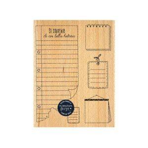 Sello de madera Notes des vacances