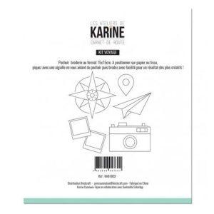 Plantilla de bordado carnet de route kit voyage les ateliers de karine