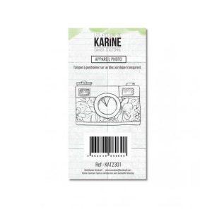 sello acrilico appareil photo karine | marakiscrap