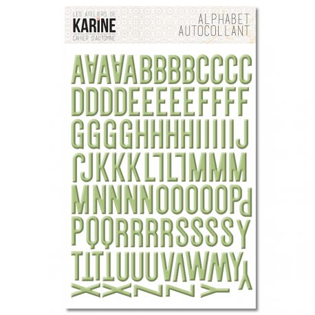 alfabeto adhesivo cahier d automne