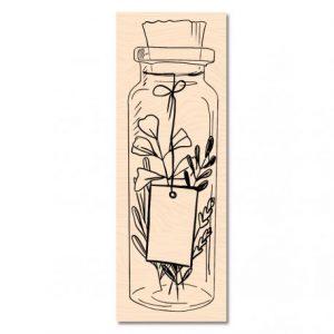 sello de madera cahier d automne jolie bouteille les ateliers de karine