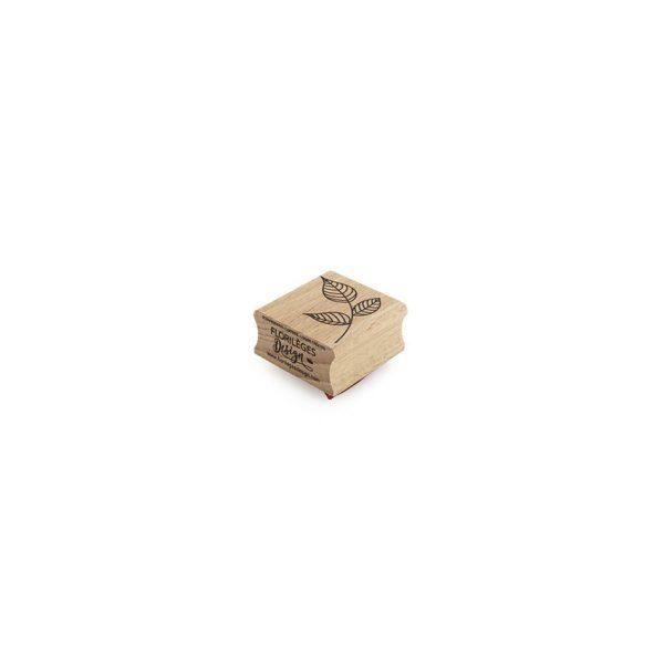 sello de madera petit feuillage de florileges perfil | marakiscrap