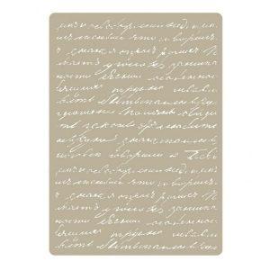 stencil deco embossing 031 manuscrit wega elite | marakiscrap