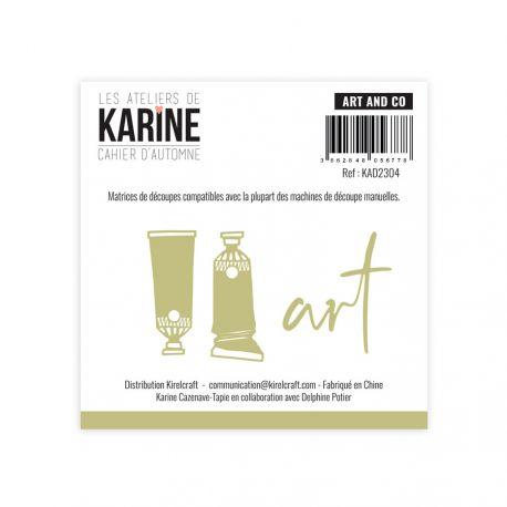 troquel cahier d automne art and co les ateliers de karine