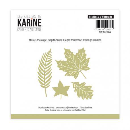 troquel cahier d automne feuilles d automne les ateliers de karine
