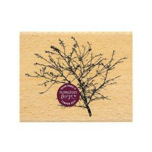 sello de madera branchage fin florileges