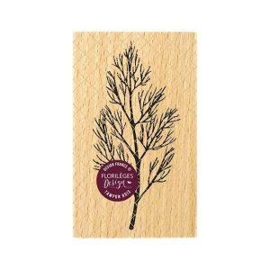 sello de madera branche nue florileges