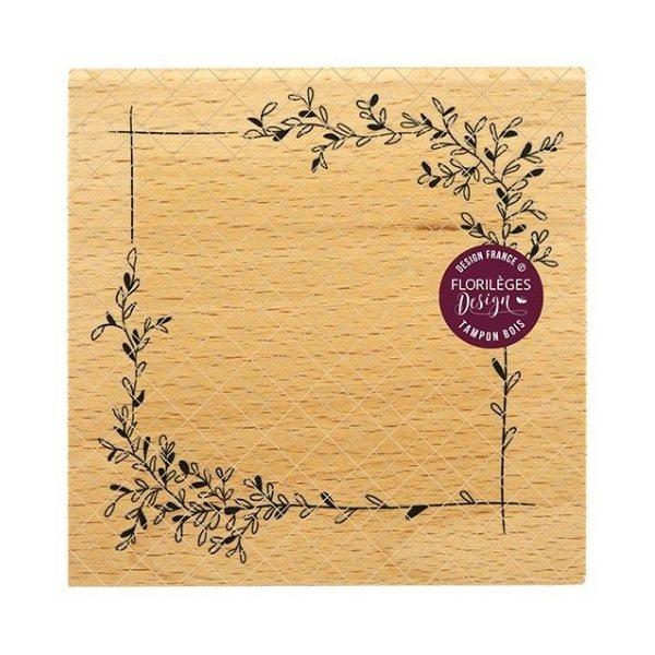 sello de madera cadre delicat florileges