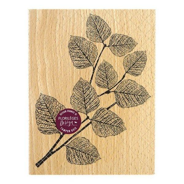 sello de madera feuillage realiste florileges